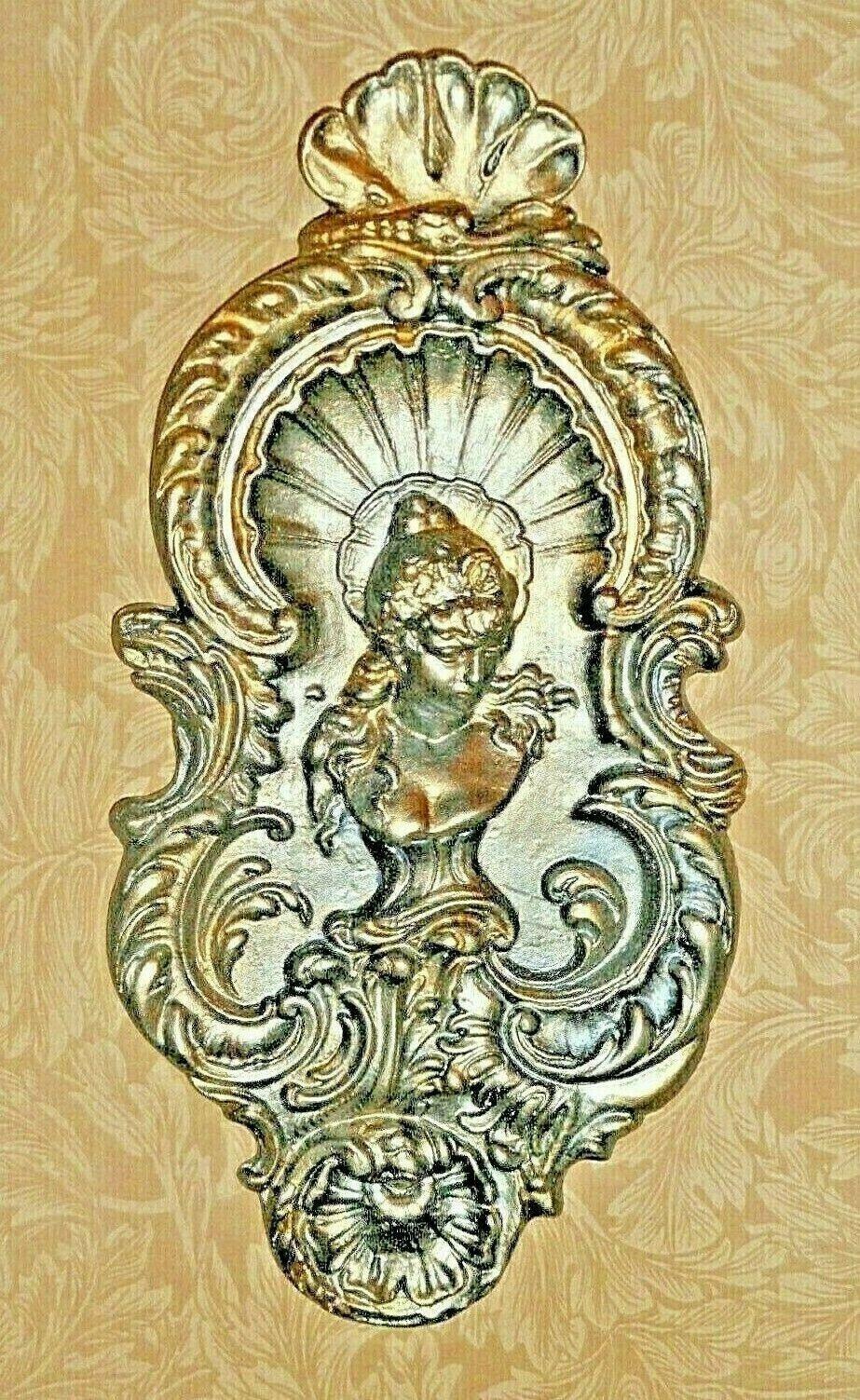 Barroco Rococó De Yeso Medallón de arquitectura para el Interior