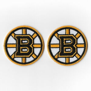 2X-NHL-Boston-Bruins-Iron-on-Patches-Embroidered-Patch-Badge-Applique-Emblem