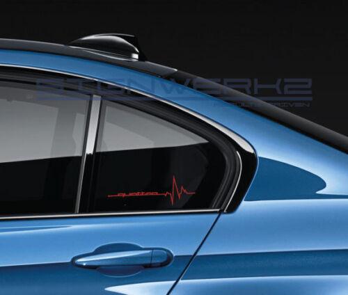 Quattro heartbeat pulse Sticker EURO Racing A4 S4 S3 TT R8 A6 Q5 Q7 Pair
