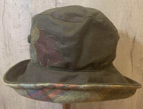 Taille unique. British Made Olney Femmes Ciré Coton Olive Pays Chapeau