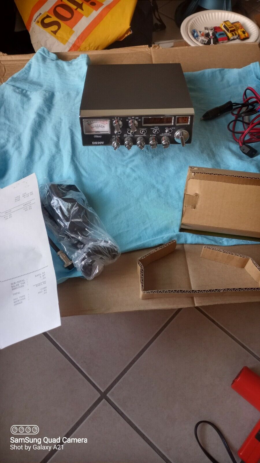 Rare Galaxy DX99V AM/FM SSB all mode cb radio echo been robot microphone + box. Buy it now for 495.00