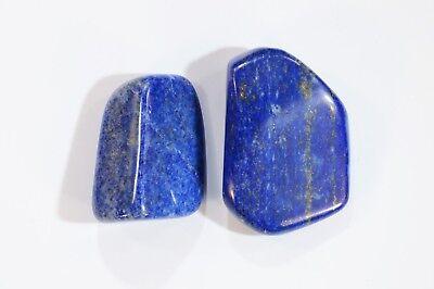 "Lapis Lazuli 3//4/"" 2 Pieces Tumbler Polished Metaphysical Chakra Healing Crystal"