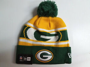 5946d0776 Green Bay Packers New Era Knit Hat Callout Pom Beanie Stocking Cap ...