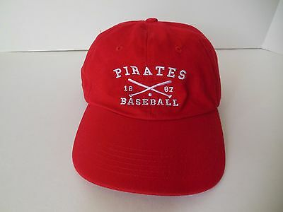 Pirates Baseball Hat Ball Cap Red Allegheny General Hospital Adjustable Sports