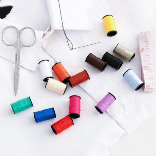 10Pcs Travel home sewing kit case needle thread tape scissor set handcraft FY