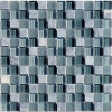 Glassteinmosaik Grau Mix 2,3x2,3cm Granit Fliesen Mosaik Bodenbelag