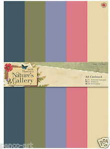 Papermania A4 220gsm double sided card stock to match the Nature/'s Gallery range