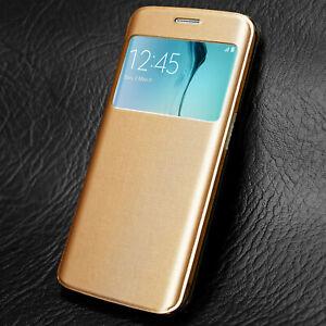 Pour-Samsung-Galaxy-S6-S7-S8-A3-A-5-Flip-Case-View-Screen-Cover-Case