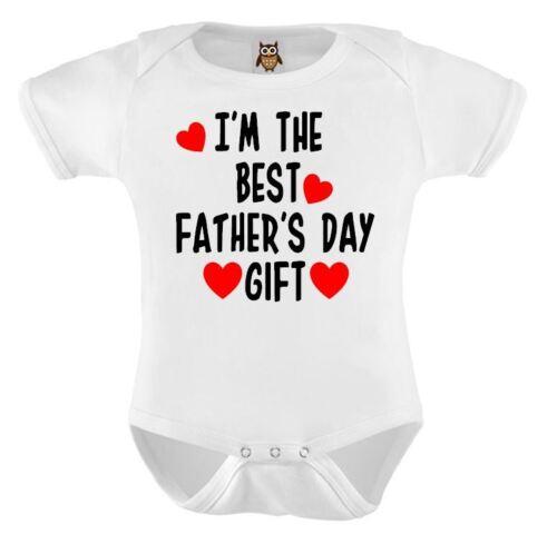 Fête des Pères Bébé Gilet Je suis le meilleur cadeau fête des pères bébé mignon body cadeau 104