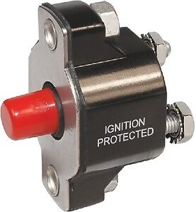 New Medium Duty Push Button Reset-only Circuit Breaker blue Sea Systems 2141 40A
