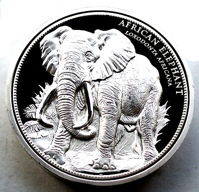 ENDANGERED WILDLIFE AFRICAN BUFFALO SYNCERUS CAFFER BU Proof Medal 40mm 40g B9