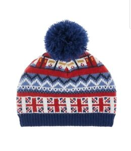 A24# MonsoonBaby Boys Multicoloured Sights Bobble Hat 3-6 Years Old.