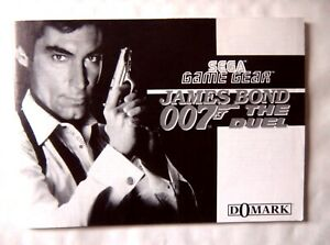 61863 Instruction Booklet-james Bond 007 The Duel-sega Game Gear (1993)-afficher Le Titre D'origine Beau Lustre