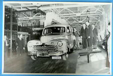 "1946 Ford 1st Off of The Assembly Line  12X18"" Black & White Picture"
