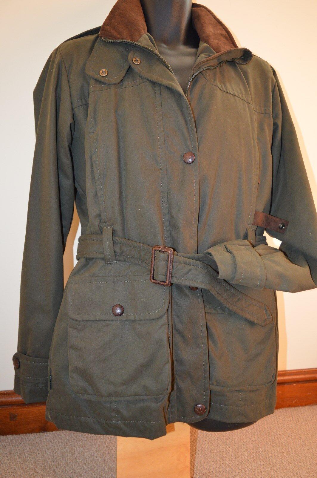 Le Chameau Ladies Belted Kotkar 38 40 Coat