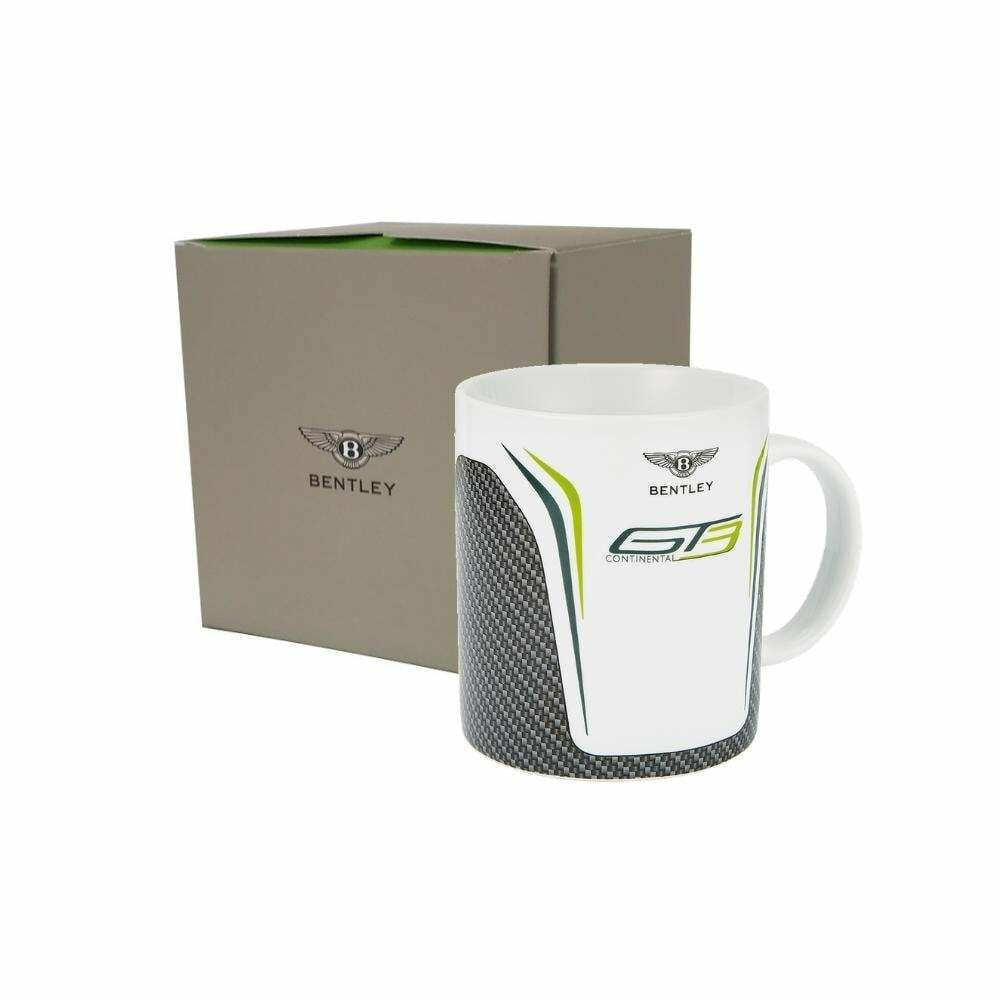 Bentley Motorsport GT3 Porcelain Mug Carbon & Gift Box White Grey 2019