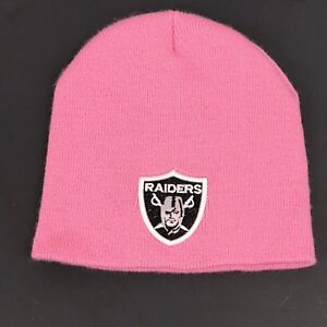 Oakland Raiders Beanie Hat Cap Pink Women Stretch Nfl Embroidered Patch One Sz Ebay