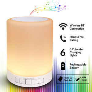 Image Is Loading Bluetooth Mood Lamp Speaker 6 Colour Changing Portable