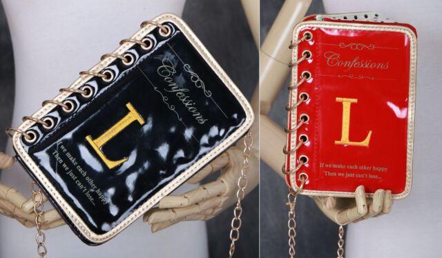 LB-620 Gothic Lolita Tasche Buch Book Bag Clutch Umhängetasche Lack Trend