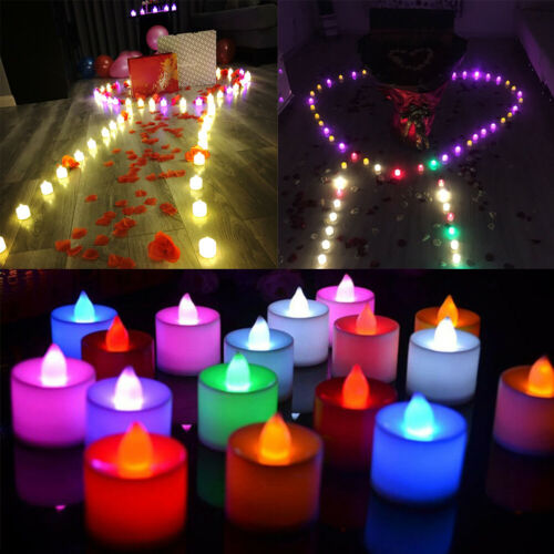 12 PCS Flameless Votive Candles Battery Operated Flickering LED Tea Light