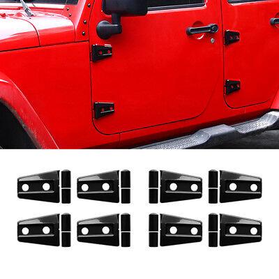 8Pcs 4 Door Car Door Hinge Cover Protector Trim For Jeep Wrangler JKU 2007-2017