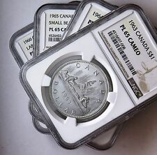1963 to 1966 S$1 Canada Silver Dollars NGC PL 65 Cameo Four Coin Lot