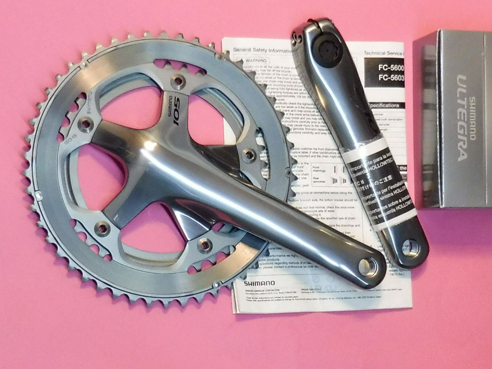 Shimano - 5600    10 Sp bicycle chainset 165 mm - 39.50   6600 bb cupset - NOS  discount low price