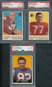 1959-Topps-and-1961-Topps-Football-Group-Lot-of-3-PSA-Cards-All-PSA-6-SEE-NOTE