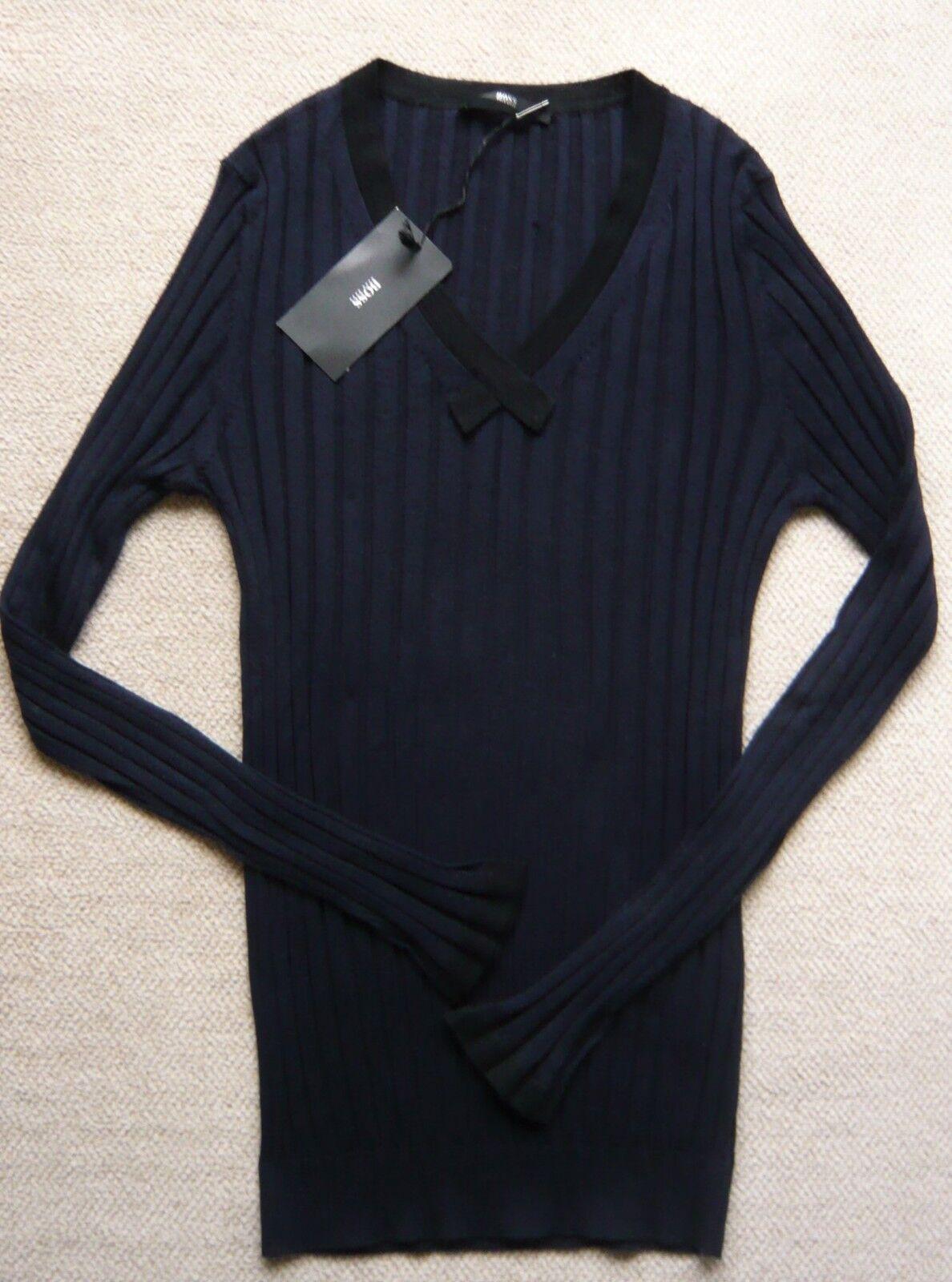 434a14e2 NEUF AVEC ÉTIQUETTE PULL MARINE & black HUGO BOSS size 38. PINKO navy jumper  ...