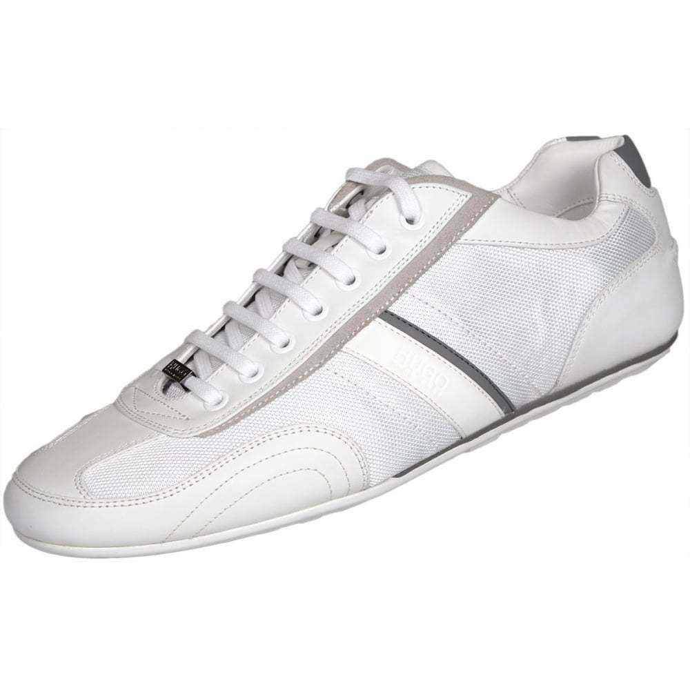 Hugo Boss Footwear Thatoz Tissu Noir Cuir Blanc paniers