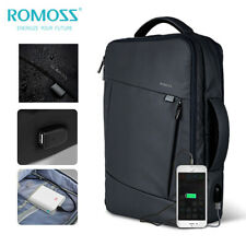 "Romoss 15.6"" Waterproof Laptop Backpack USB Port Travel Bag Shoulder School Bag"