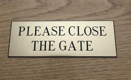 Effet cuivré veuillez fermer la porte signe