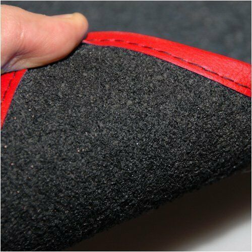 AUDI A5 SPORTBACK TAILORED BLACK CAR MATS WITH RED LEATHER TRIM
