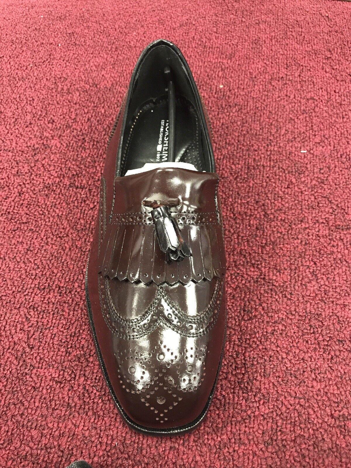 Florsheim Homme Chaussures Lexington Franges Mocassin bordeaux en cuir Classics 9 3E grand