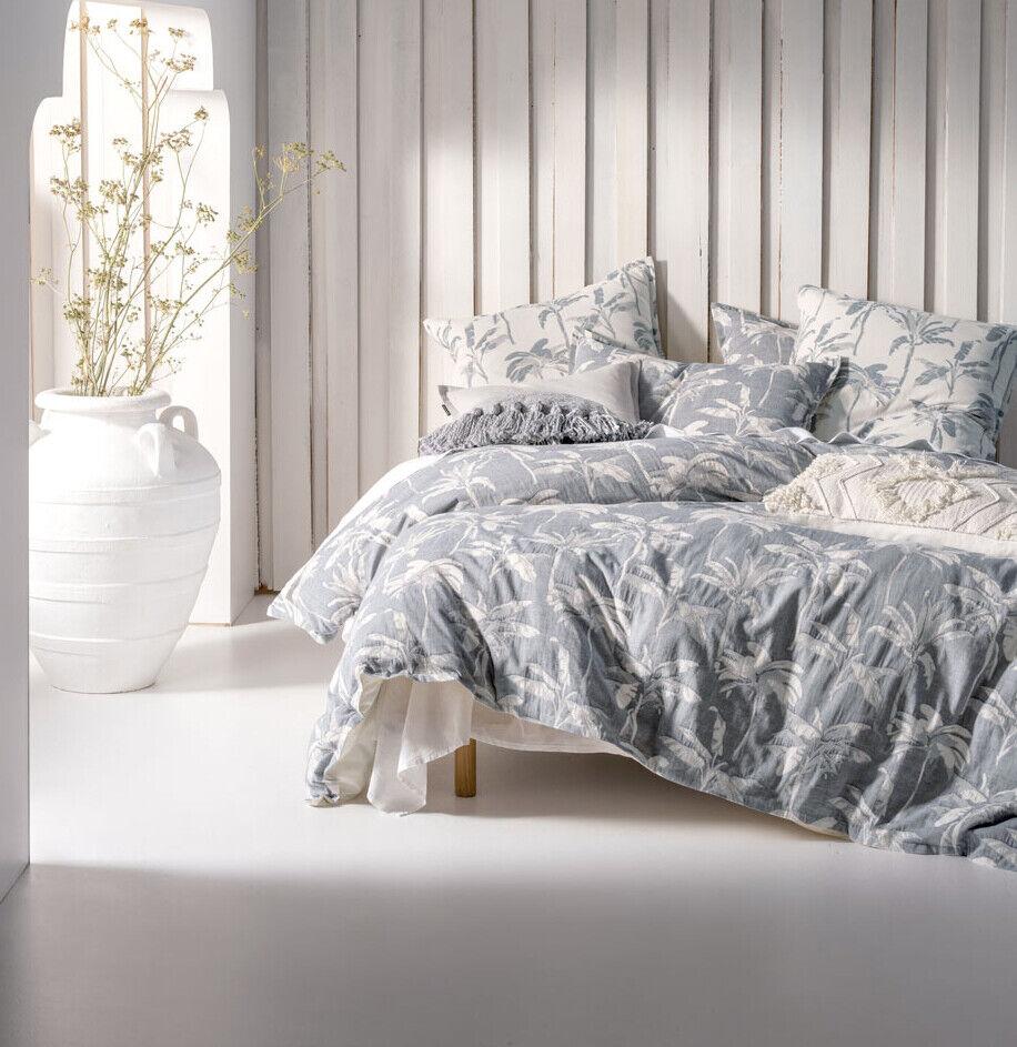 Linen House Tropea Denim Quilt Cover Set Queen King Super King Euro
