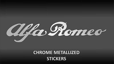 ALFA ROMEO chrome body glass decal sticker / stickers / Decal 200mm x 2