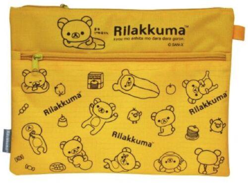 Authentic San-X Rilakkuma Relax Bear A4 size Document Bag