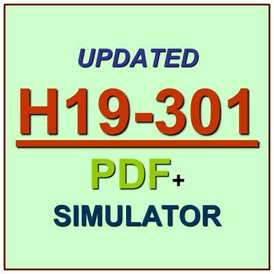 Huawei Certified Pre-sales Associate-IP Network Test H19-301 Exam QA PDF+SIM