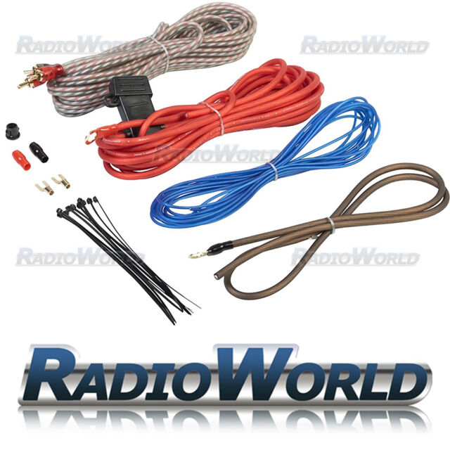 edge amplifier wiring kit 10 awg for car audio speakers subwoofer rh ebay co uk car audio wiring kits car amplifier wiring kit