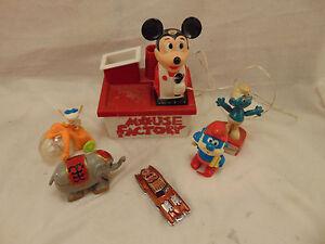Vintage Toys Mickey Mouse Papa Smurf Elephant Smurf Puppet Hot