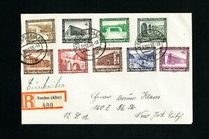 Germany-Stamps-B93-101-on-Registered-Cover