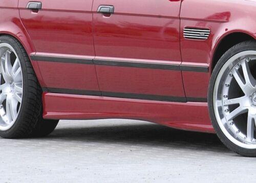 Rieger Seitenschweller schwarz matt für BMW 5er E34 Limousine Touring