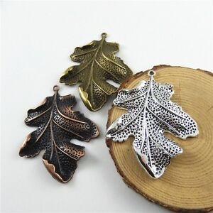 6pcs-Mixed-Lots-Chic-Leaf-Leaves-Alloy-Pendants-Charms-Findings-Crafts-Jewelry