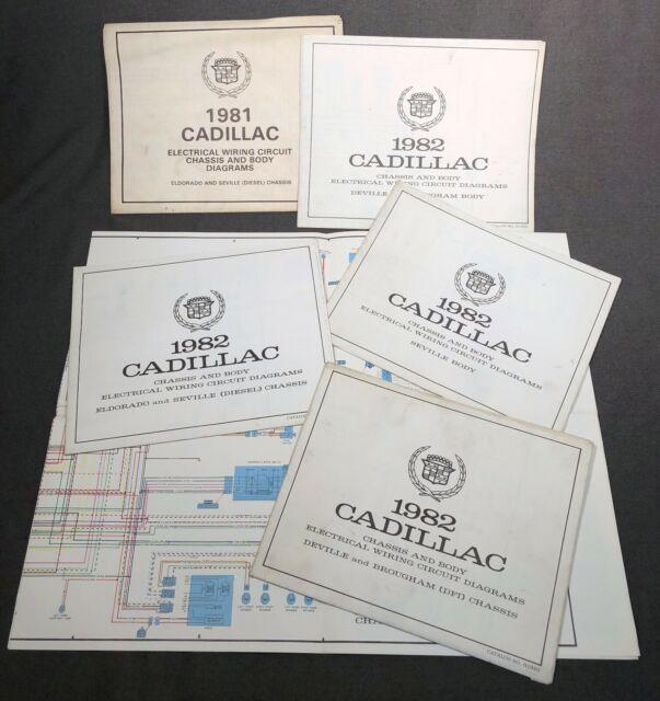 1981 And 1982 Cadillac Eldorado Seville Deville Wiring Diagram Sheets Schematics