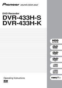 pioneer dvr 640h s dvr 550h dvr 225h operating instructions owner s rh ebay com pioneer dvr manual pioneer dvr 560h manual
