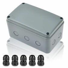Outdoor Junction Box Plastic Electrical Project Enclosure Case With 5 Cable Glands