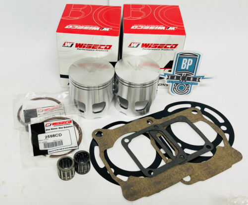 1mm .040 Over Wiseco Pro Lite Pistons Gaskets Wrist Pin Bearings Banshee 65mm