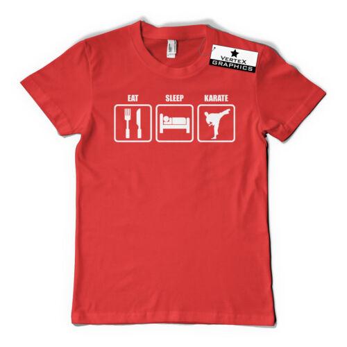 karaté Slogan Eat Sleep Karaté T-ShirtCadeau