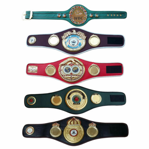 WBC WBO WBA IBF IBO Championships Boxing Belt Mini Belts New Premium Quality