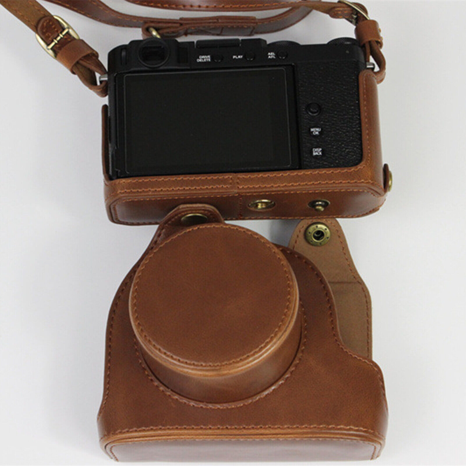 PU Leather Protective Cover Carrying Case for Fujifilm Fuji X-E4 Digital Camera